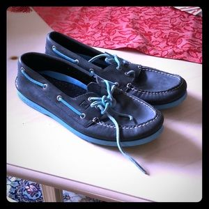 Navy Sperry shoes size 10